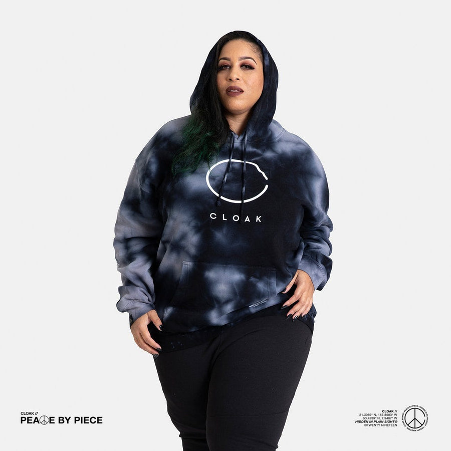 Peace by Piece Big C Hoodie Stormy Cloak-Peace