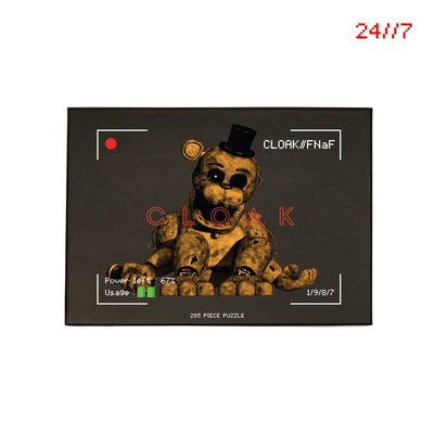 FNaF NOTHING GOLD PUZZLE BLACK Puzzle FNaF2