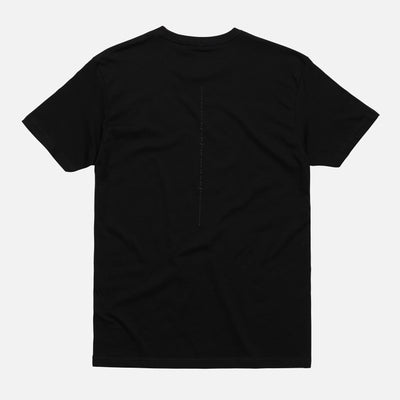 REFLECTIVE CRACKED TEE BLACK Cloak-New SM