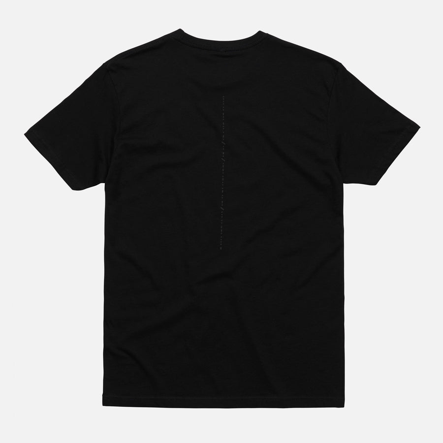 REFLECTIVE CRACKED TEE BLACK