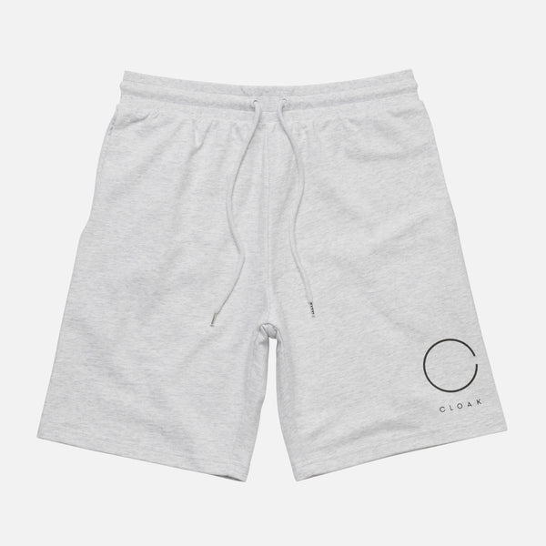 LOGO SWEAT SHORTS WHITE