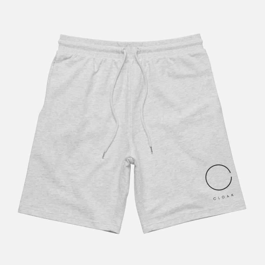 Reflective Logo Sweat Shorts White