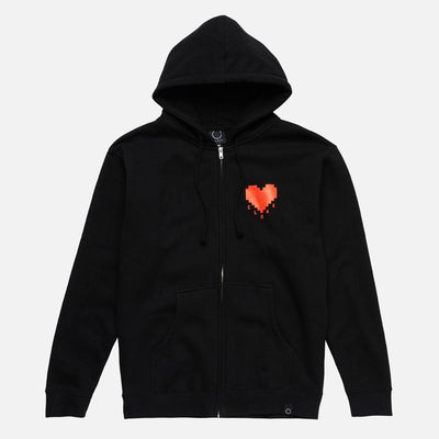 ELEMENTS PASSION ZIP HOODIE BLK Hoodie Cloak-Elements