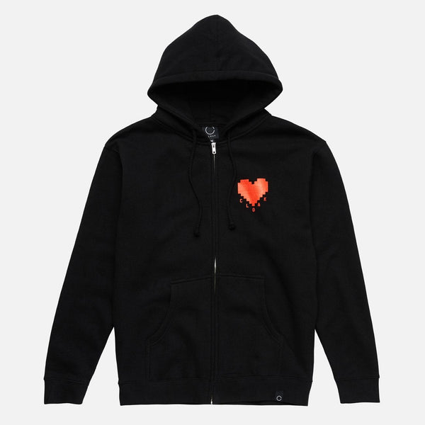 ELEMENTS PASSION ZIP HOODIE BLK