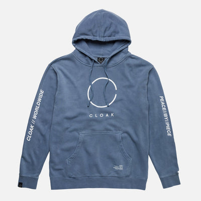 Peace by Piece Big C Hoodie Blue Cloak-Peace