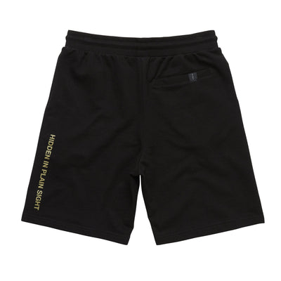REFLECTIVE LOGO SWEAT SHORTS BLACK Cloak-New