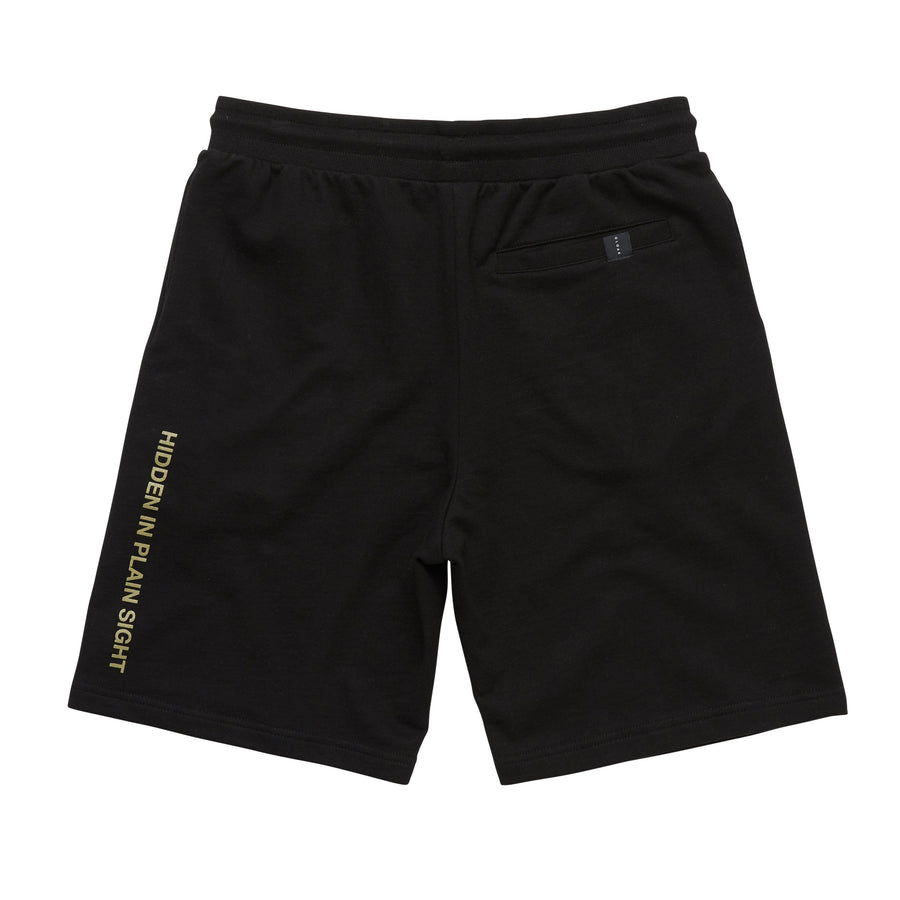 REFLECTIVE LOGO SWEAT SHORTS BLACK