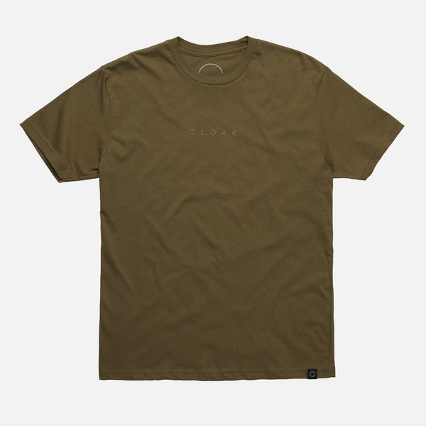 BINARY TONAL ARMY GREEN TEE