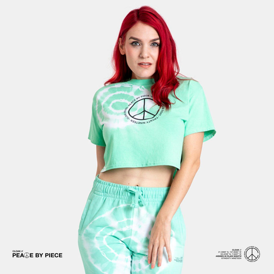 Peace by Piece Geo Crop Dye Cloak-Peace