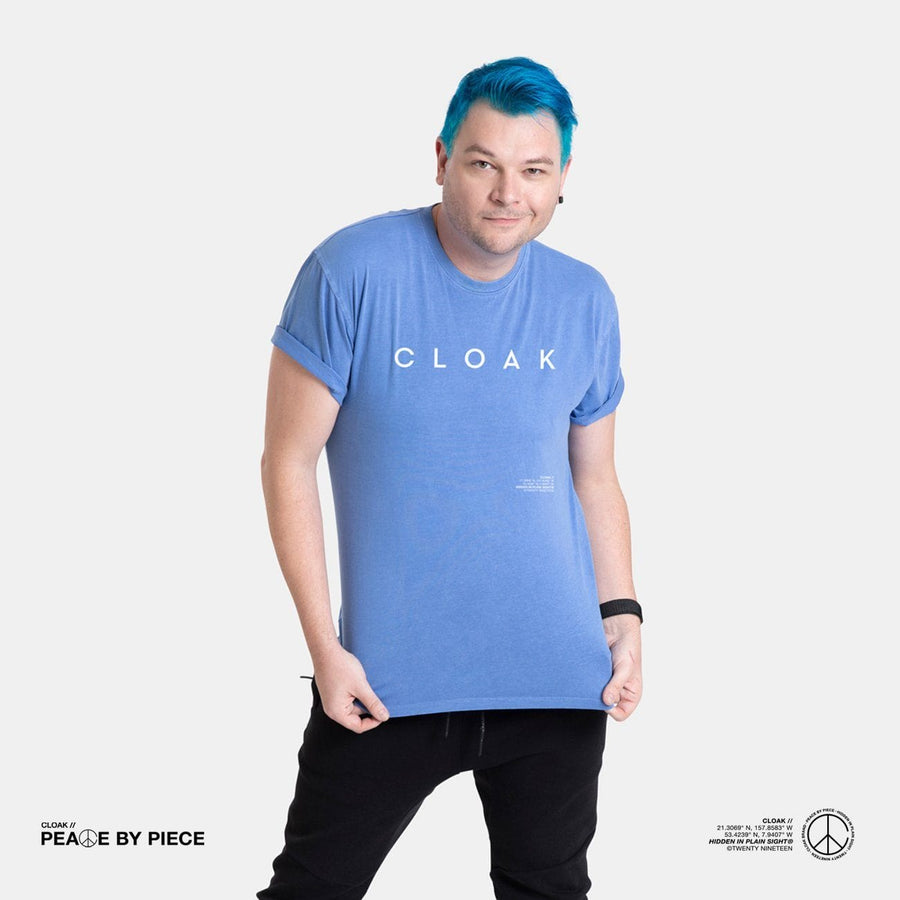 Peace by Piece Geo Tee Blue Cloak-Peace
