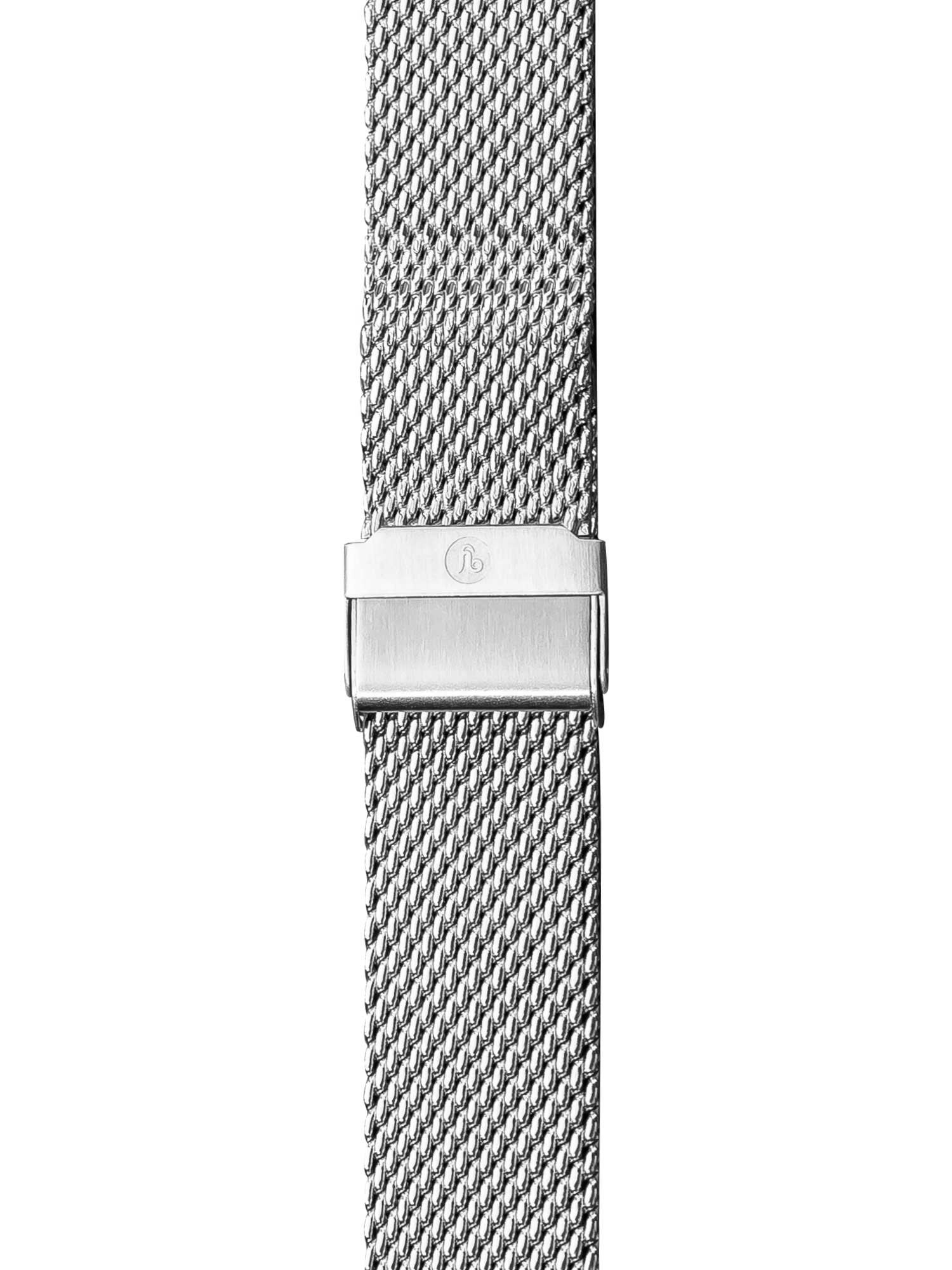 Stainless Steel Mesh Rallygraf Mecanical Quartz  20mm