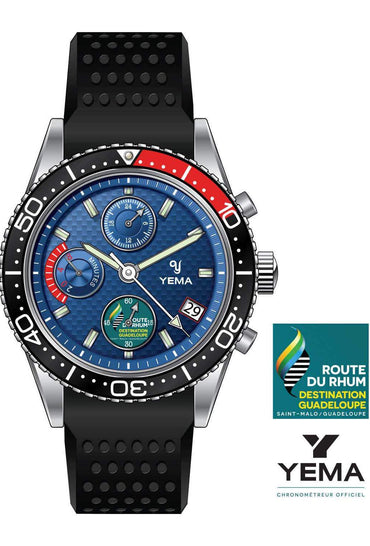 Yema Yachtingraf Régate Blue Red Quartz - Front
