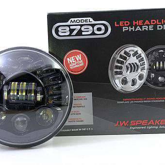 JW Speaker 8790A - Black - Adaptive 7-inch Headlight for Motorcycles