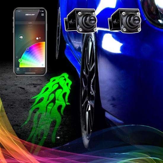XKGlow CurbFX 2pc RGB XKchrome LED Projector Light Kit