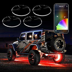 XKGlow LED  Wheel Ring Light Kit XKchrome App controlled w/ Turn Signal Function
