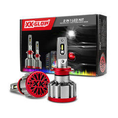 XKGlow 2-in-1 LED Bulb with Multi-Color Devil Eye