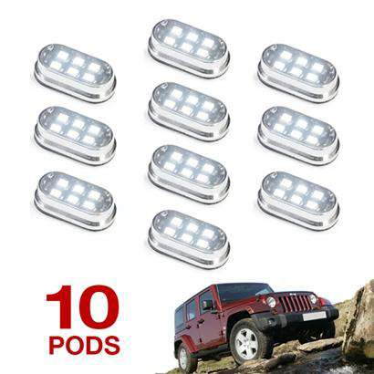 10 Pod 60 LED 4x4 Off Road Vehicle Rock Fender Light Kit