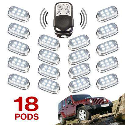 Premium Remote Control 18 Pod 4x4 Off Road Vehicle Rock Light Kit-108 LEDs
