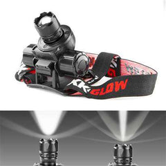 Spot and Flood Retractable Lens Heavy-Duty CREE LED Headlamp