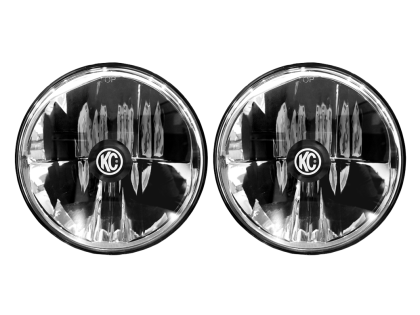 KC HiLiTES 97-06 Jeep TJ/Univ. 7in. Gravity LED H4 DOT Approved Replac. Headlight (Pair)
