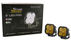 Diode Dynamics SS3 LED Pods (Pair)- Yellow