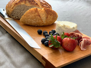 Breadboard, Cutting Board, Serving Tray with food