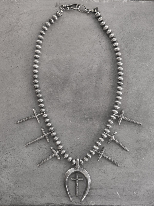 NAJA CROSS NECKLACE