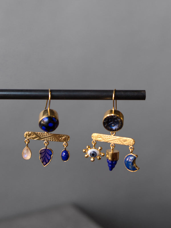GRAINNE MORTON BLUE DROP EARRINGS