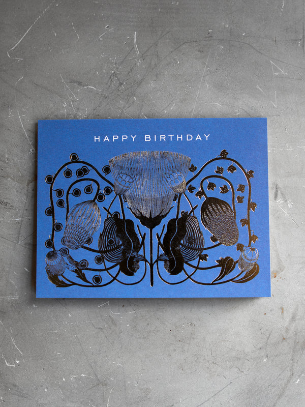 COBALT BIRTHDAY GREETING CARD