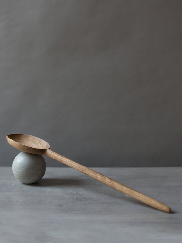 LARGE WALNUT ROUND SPOON