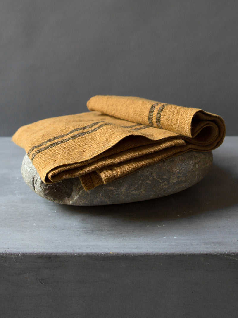 OCHRE LINEN TEA TOWEL