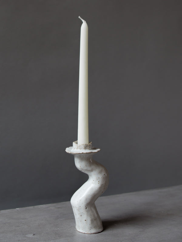 White Lumena Single candle