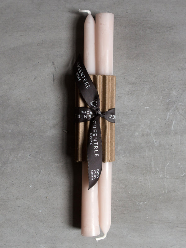 BLUSH BEESWAX TAPER