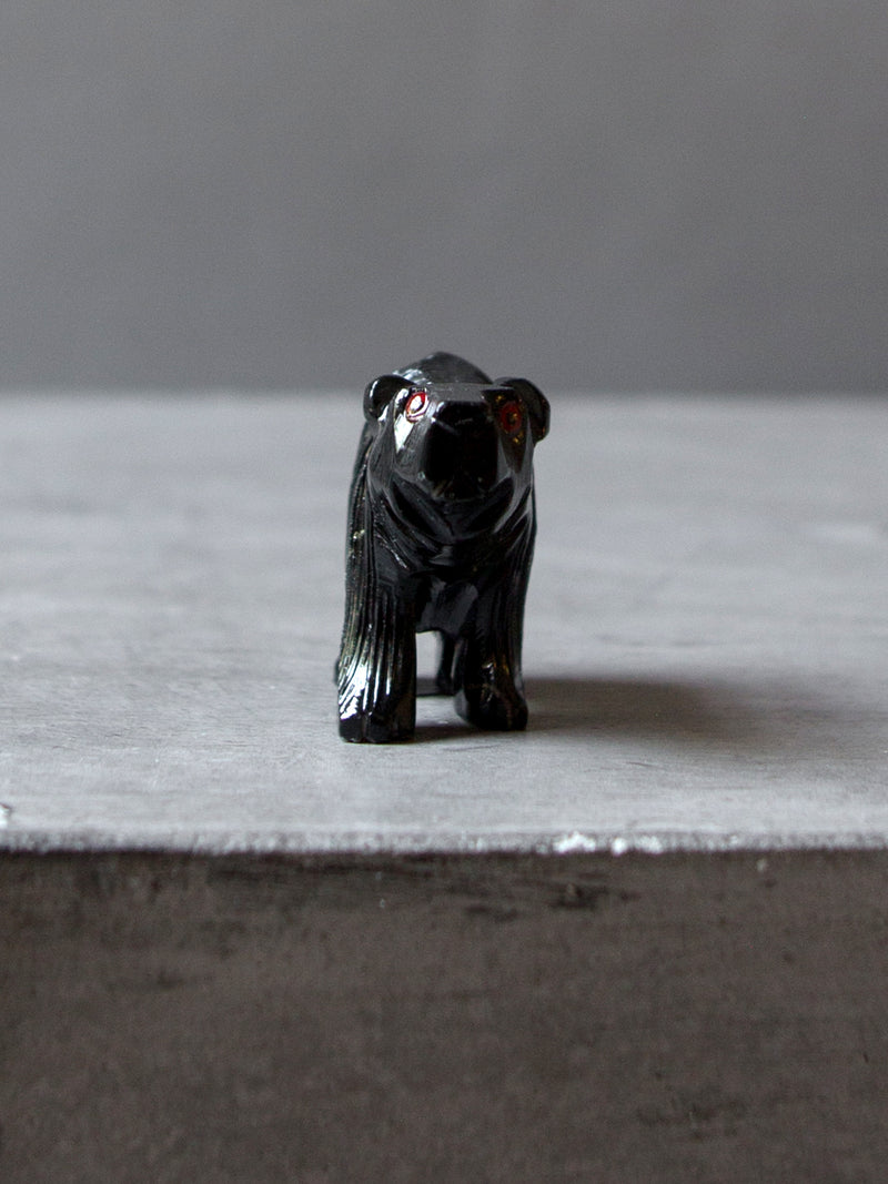 SMALL CARVED BLACK BEAR