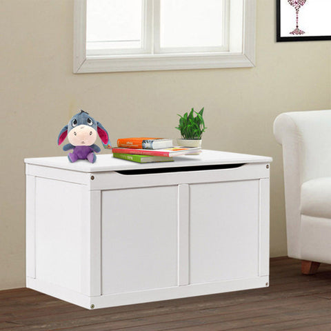 White Wood Kids Toy Storage Box