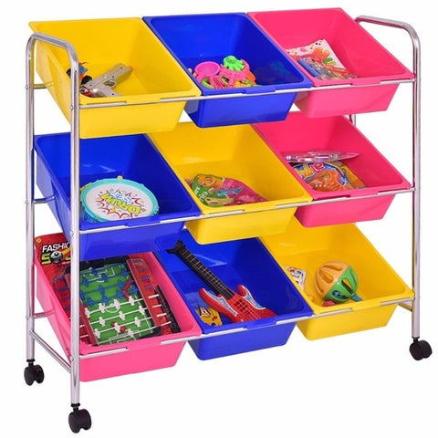 Toy Bin Cart Rack
