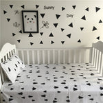 New Arrived 2 Piece crib bed linen set including pillow case+bed sheet without filling