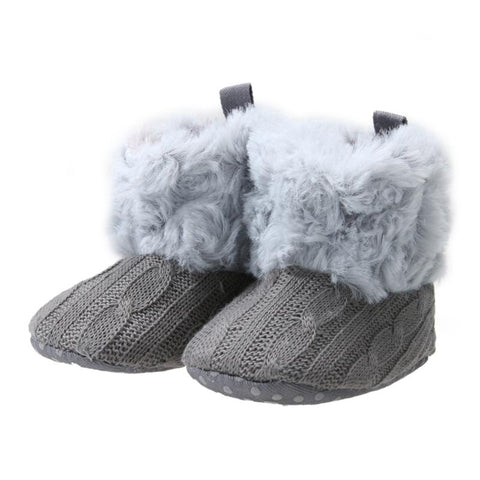 Winter Warm Knitted Prewalker Snow Boots 0-18 mos