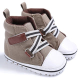Classic High Top Sports Sneakers, Soft Bottom Anti-slip T-tied Sizes 2.5, 3 & 4