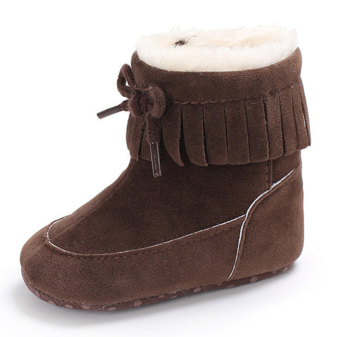 Soft Sole Lined Snow Boots Sizes 2.5, 3 & 4