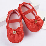 Ribbon Bowknot Soft Sole First Walker Satin Shoes Sizes 2, 2.5 & 3