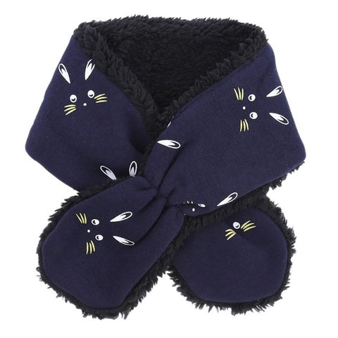 Fashion Winter Fleece Baby Scarf Rabbit Pattern