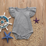 Ruffled Sleeve Romper Sizes 6-24 months