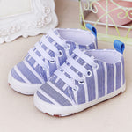 Striped Soft Prewalker Sneakers sizes 11-13 (0-12 months)