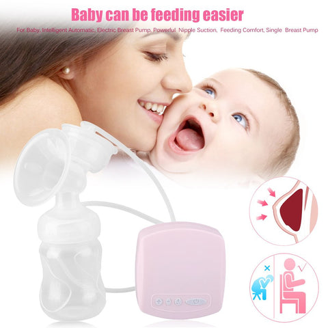 Intelligent Automatic Electric Breast Pump, Powerful Nipple Suction, Single Breast Pump