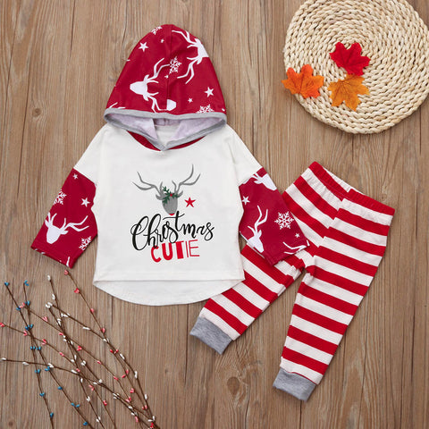 Christmas Deer Top & Pants sizes 6-24 months