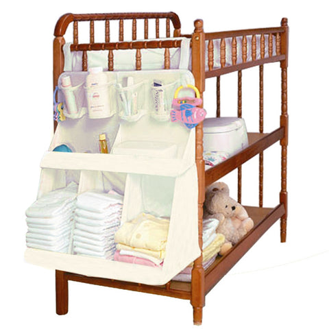 Crib Hanging Waterproof Organizer Bag for Diapers, Clothes, Bottles, Toys, etc.