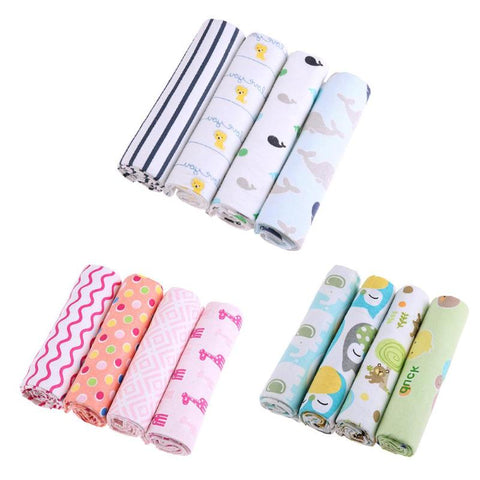 4pcs/lot Baby Bed Sheet Bedding Set, Infant Blankets, 100% Cotton Flannel Cartoon, or large baby Bath Towel 76x76cm