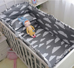2018 New 6Pcs Crib Bumpers Cartoon Bedding Sets, Cot Sheets Cotton Thickening