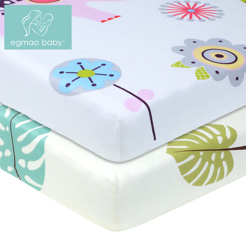 100% Cotton Percale Fitted Portable/Mini Crib Sheet 130 * 70 cm